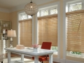 Parkland® wood blinds in the office