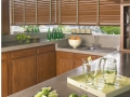 Parkland® wood blinds in the kitchen