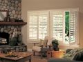 Newstyle™ hybrid shutters in the family room