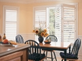 Palm Beach™ polysatin™ shutters in the dining room