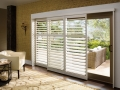 Palm Beach™ polysatin™ shutters in the family room