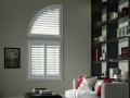Palm Beach™ polysatin™ shutters in the den
