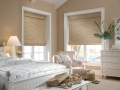 Provenance® Woven Wood Shades in the bedroom