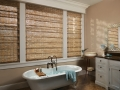 Provenance® Woven Wood Shades in the bathroom