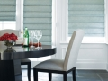 Designer Roman Shades in the dining room