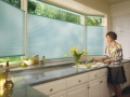 Duette® honeycomb shades in the kitchen
