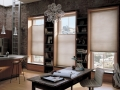 Duette® honeycomb shades in the living room