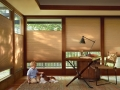 Duette® Architella® honeycomb shades in the family room