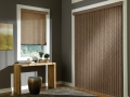 Somner® Custom Vertical Blinds in the den
