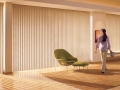 Somner® Custom Vertical Blinds in the family room