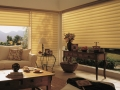 Vignette® Modern Roman Shades in the living room