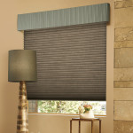 Valance over Designer Roman Shade