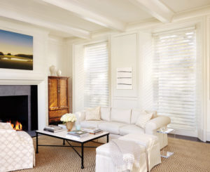 White Slipcovers with Silhouette® Window Shadings