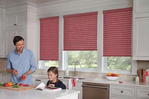 By Altra Home Decor SonnetteTM Cellular Roller Shades In The Kitchen
